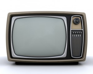 Retro styled television