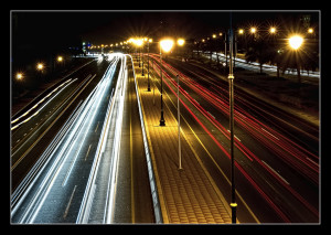 Oman - Muscat - Main Highway Light Trail