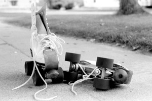 sidewalk roller skating
